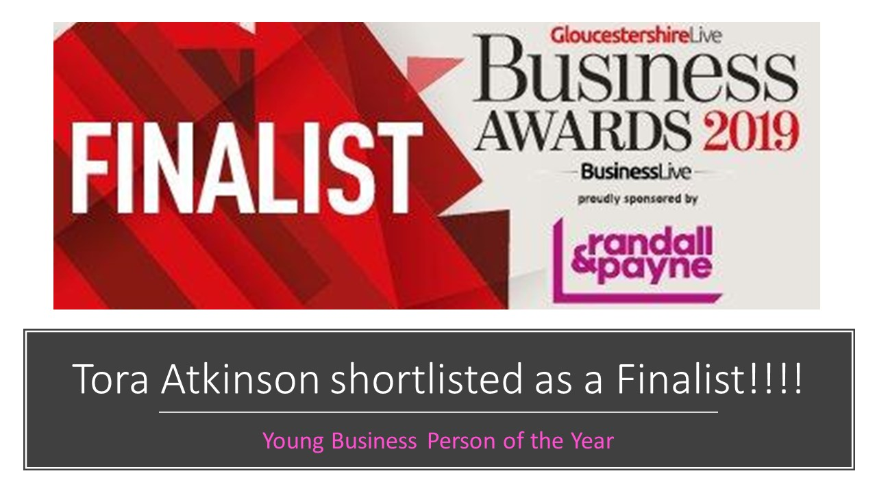 Tora is shortlisted for Young Business Person of the Year!!