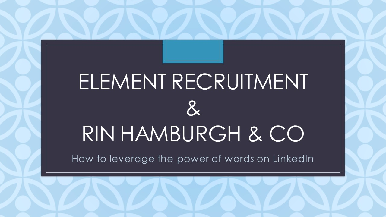 HR Event: Leverage the power of words on LinkedIn